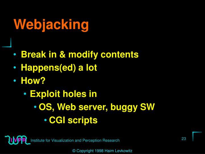 Webjacking