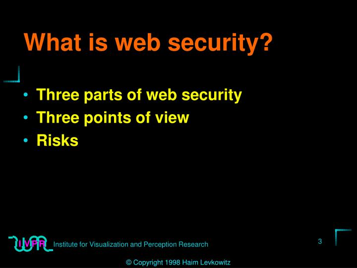 What is web security?