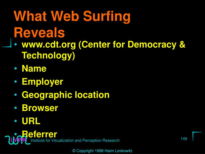 What Web Surfing Reveals