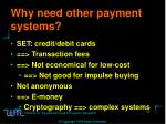 why need other payment systems