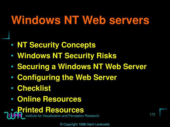 Windows NT Web servers