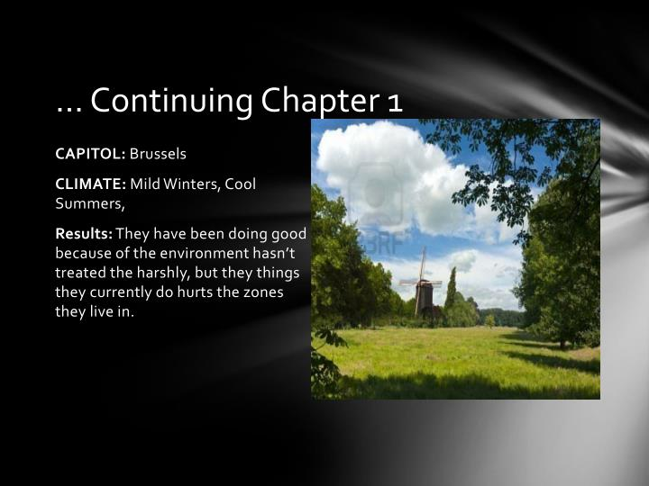 … Continuing Chapter 1