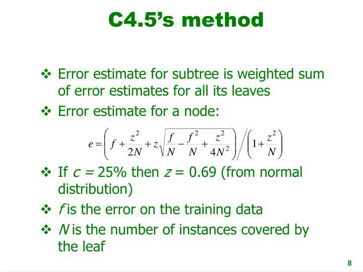 C4.5's method
