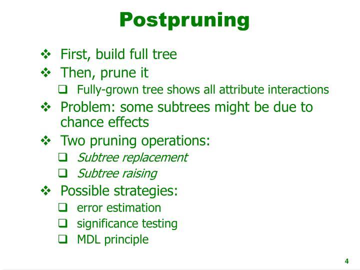 Postpruning