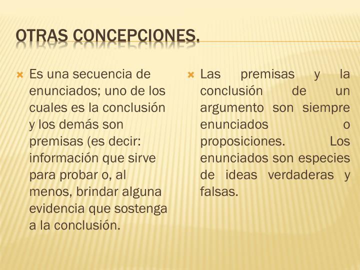 Otras concepciones.