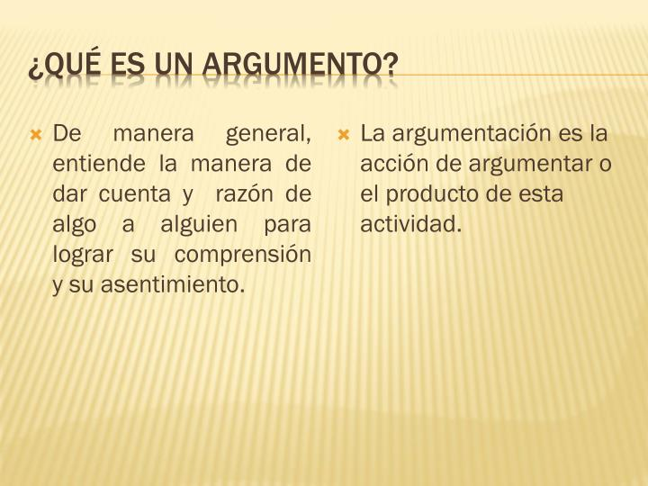 ¿Qué es un Argumento?