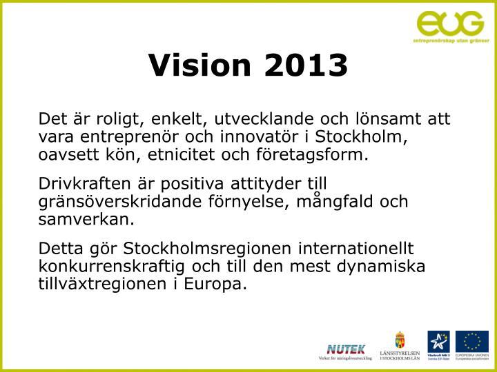 Vision 2013