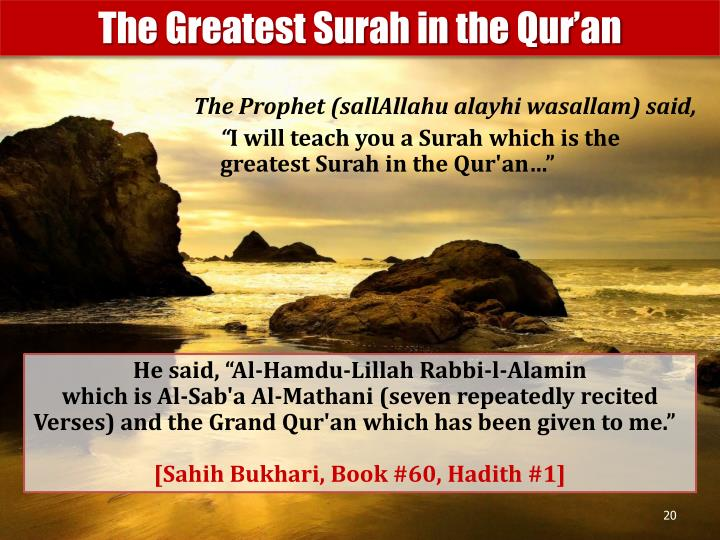 The Greatest Surah in the Qur'an