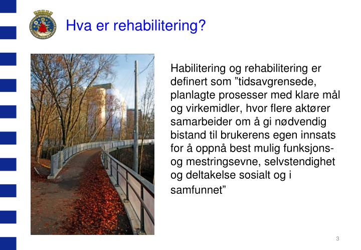 Hva er rehabilitering?