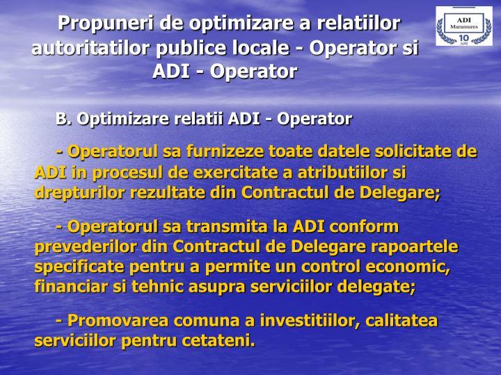 Propuneri de optimizare a relatiilor  autoritatilor publice locale