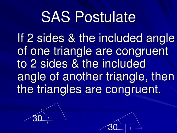 SAS Postulate