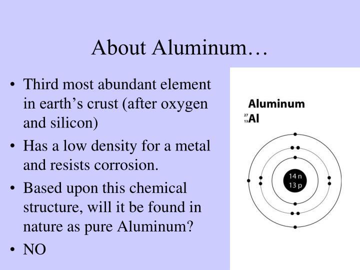 About Aluminum…