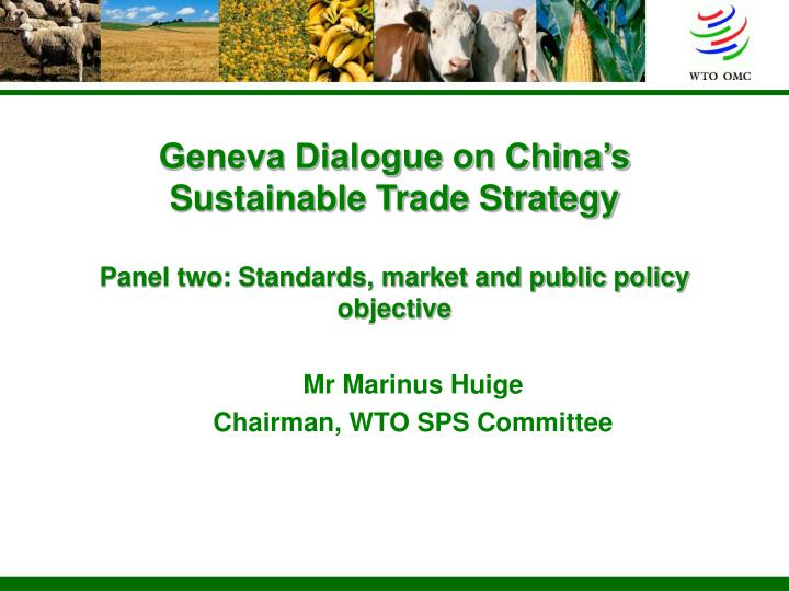 Geneva Dialogue on China's Sustainable Trade Strategy