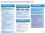 executive summary golf australia strategic plan