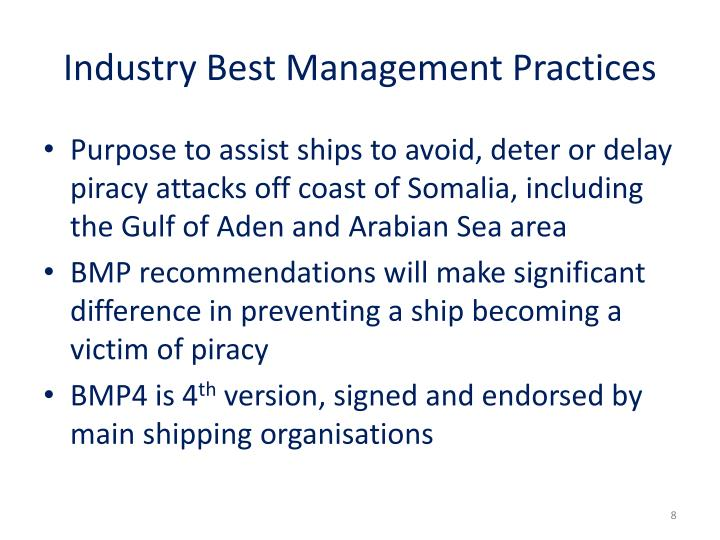 Industry Best Management Practices