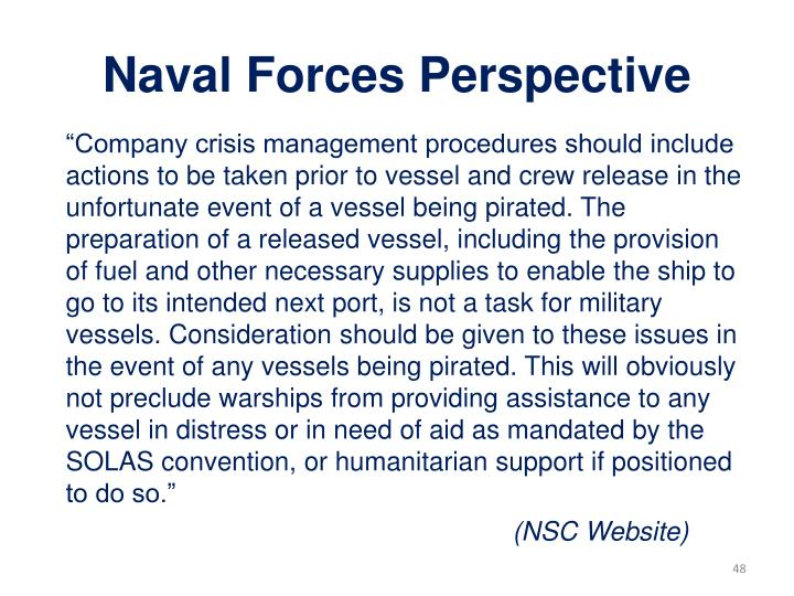 Naval Forces Perspective
