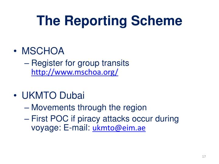 The Reporting Scheme