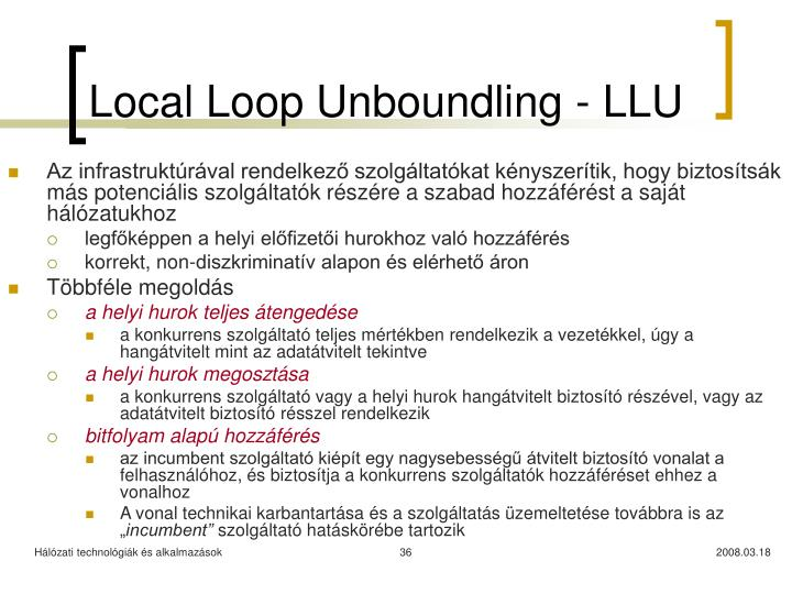 Local Loop Unboundling - LLU