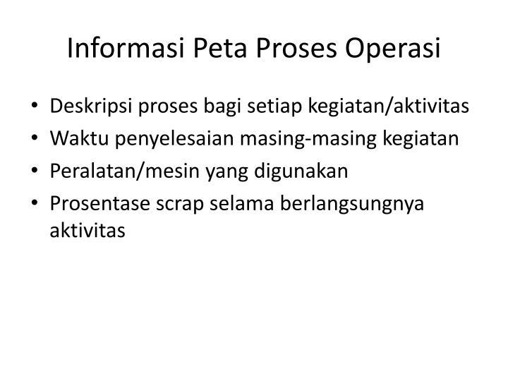 Informasi Peta Proses Operasi