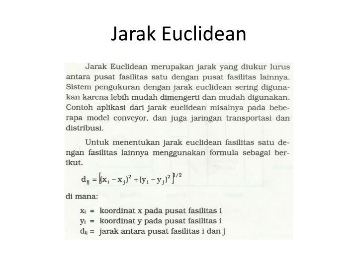 Jarak Euclidean