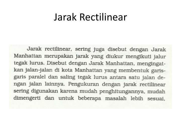 Jarak Rectilinear