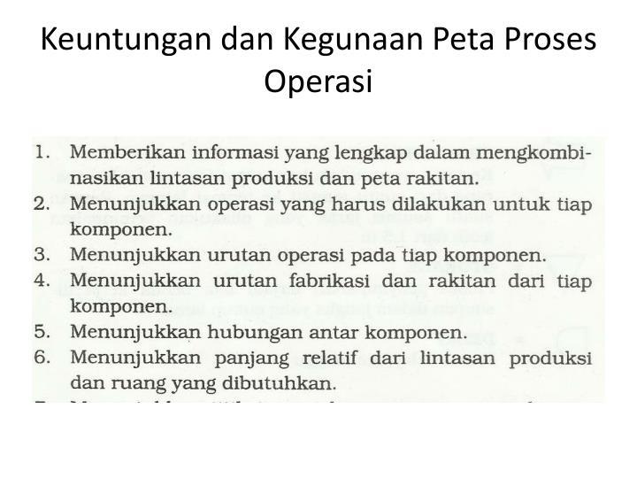 Keuntungan dan Kegunaan Peta Proses Operasi