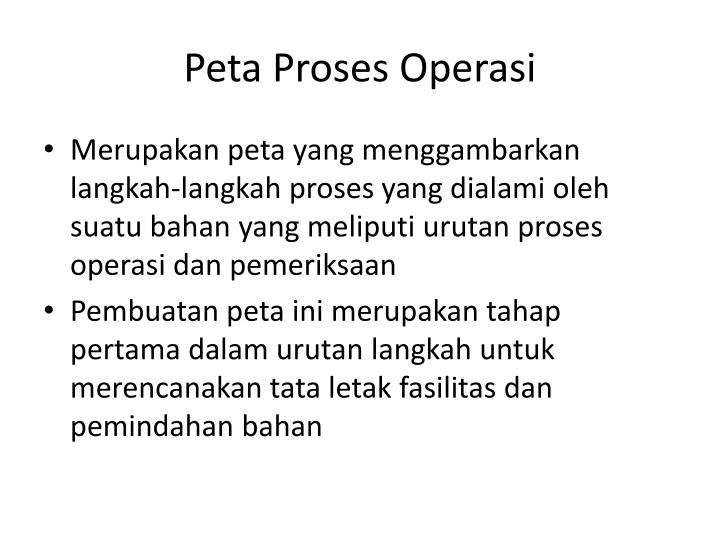 Peta Proses Operasi