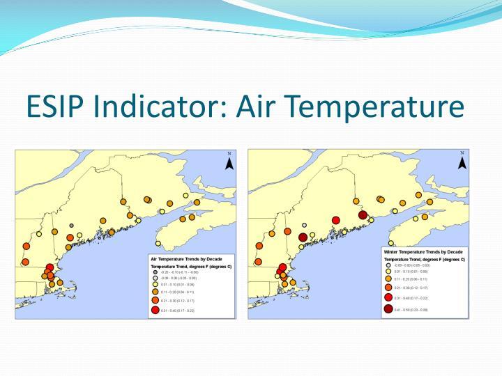 ESIP Indicator: Air Temperature
