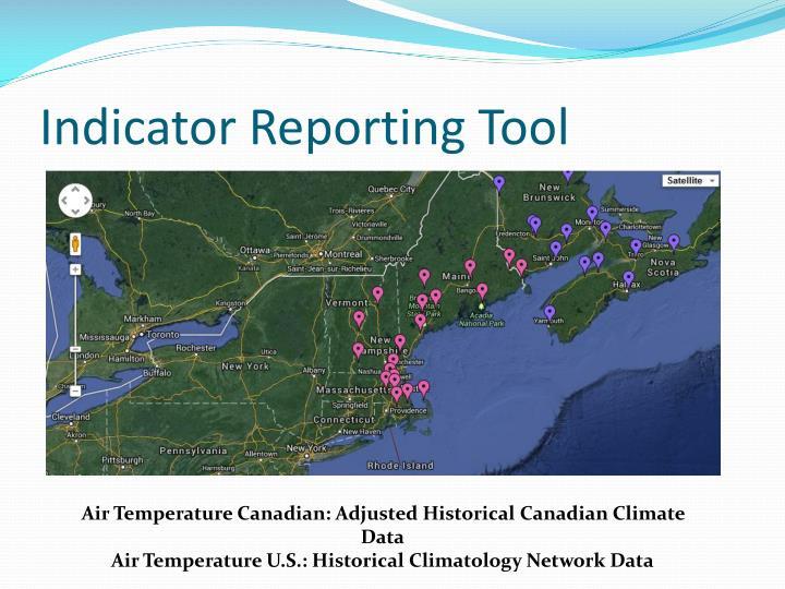 Indicator Reporting Tool