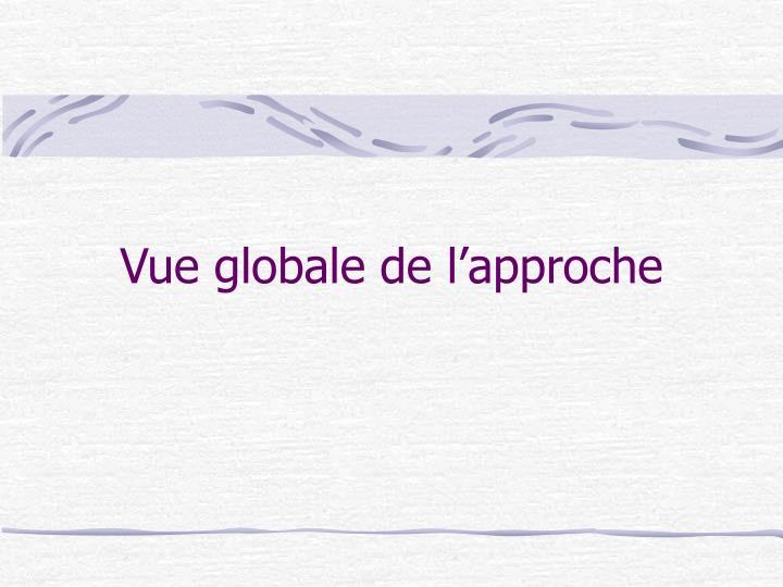 Vue globale de l'approche