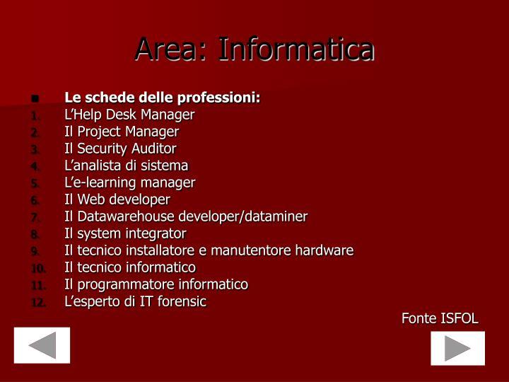 Area: Informatica