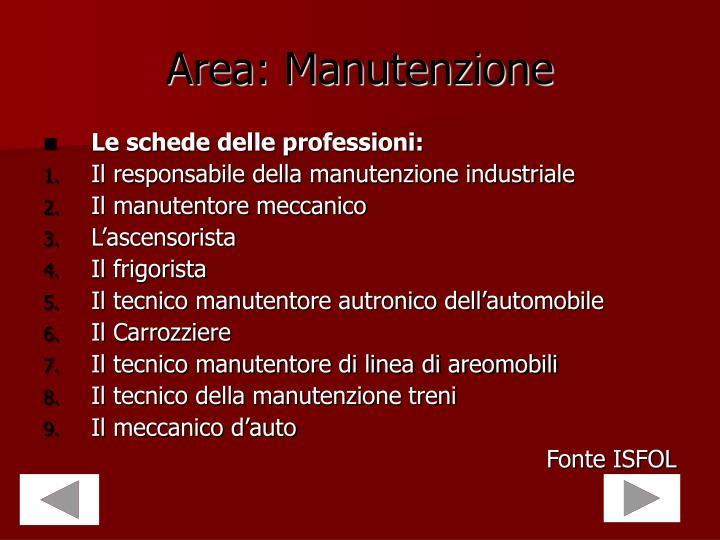 Area: Manutenzione