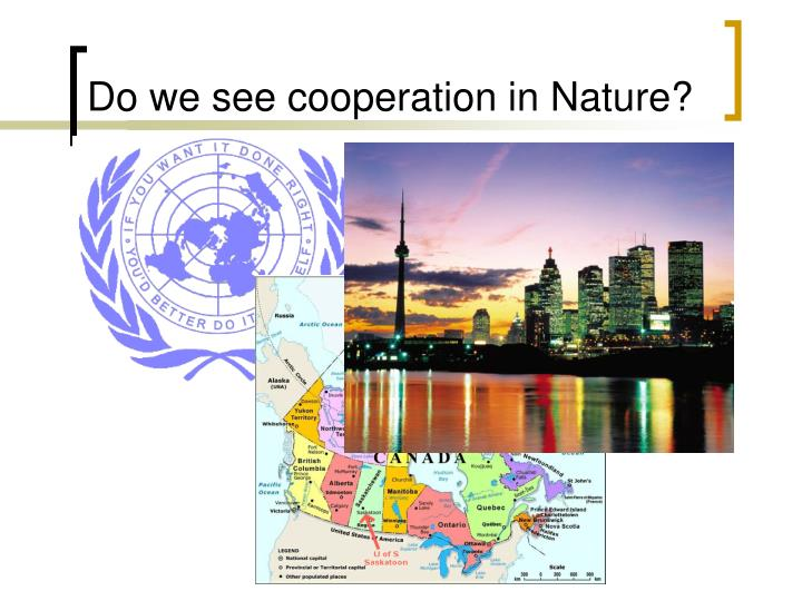 Do we see cooperation in Nature?
