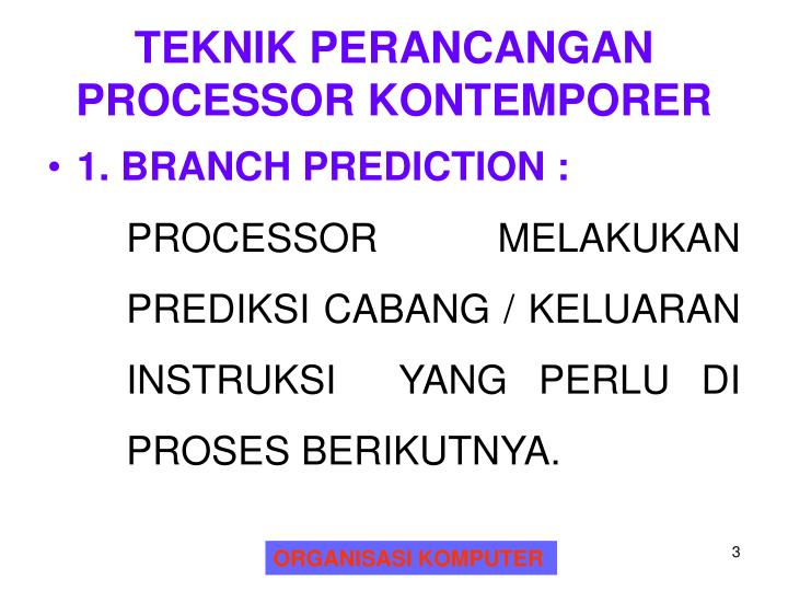 TEKNIK PERANCANGAN PROCESSOR KONTEMPORER