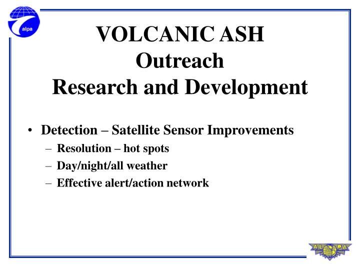 Detection – Satellite Sensor Improvements