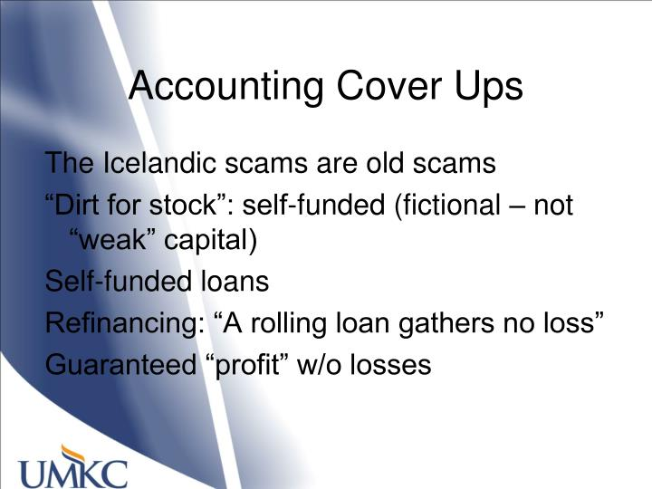 Accounting Cover Ups