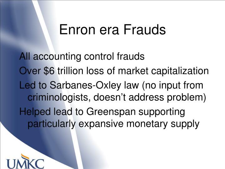 Enron era Frauds