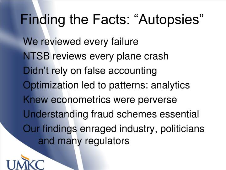 """Finding the Facts: """"Autopsies"""""""