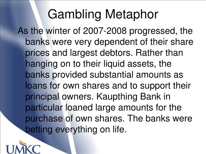 Gambling Metaphor