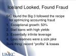 iceland looked found fraud
