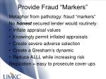 provide fraud markers