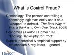 what is control fraud