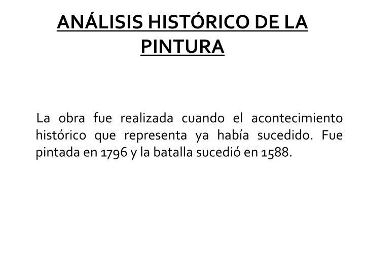 ANLISIS HISTRICO DE LA PINTURA