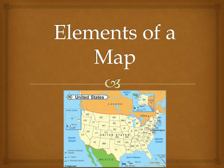 Elements of a map