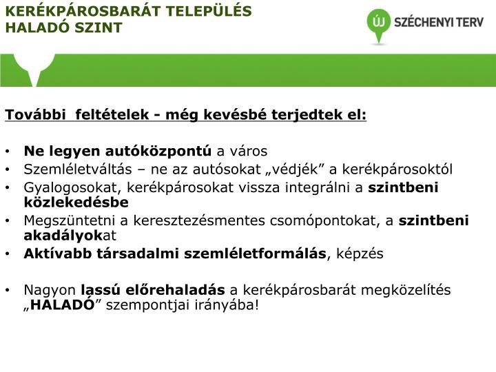 KERÉKPÁROSBARÁT TELEPÜLÉS