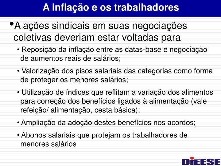 A inflação e os trabalhadores