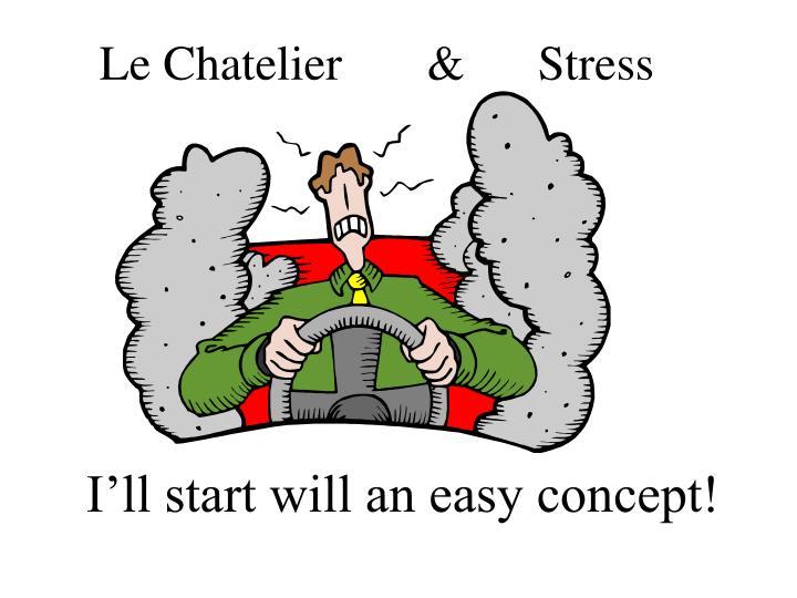 Le Chatelier       &      Stress