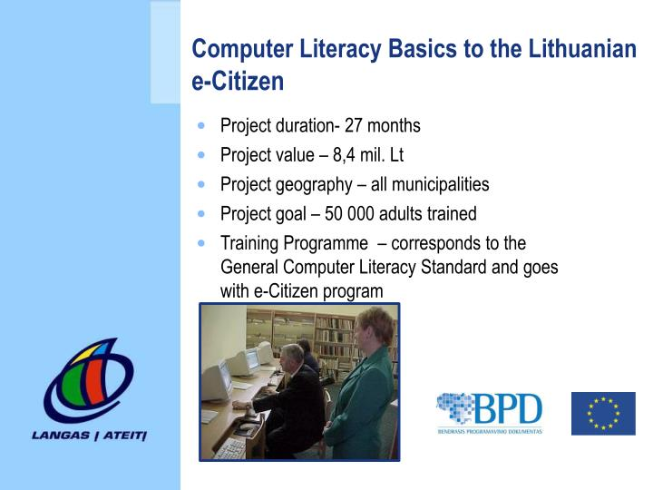 Computer Literacy Basics to the Lithuanian