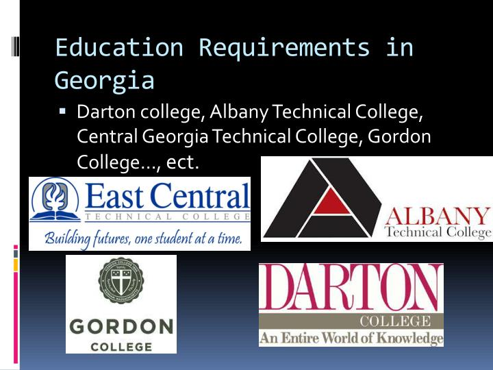 Education Requirements in Georgia