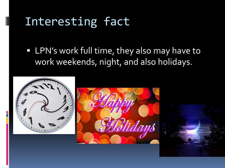 Interesting fact